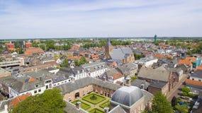 Vogelperspektive auf Leerdam lizenzfreie stockfotos