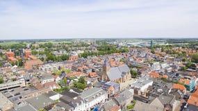 Vogelperspektive auf Leerdam lizenzfreie stockfotografie