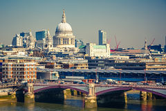 Vogelperspektive auf London-Stadt Stockbilder