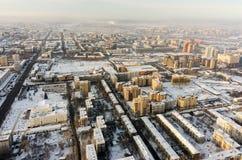 Vogelperspektive auf Wohnvierteln Tyumen Russland Stockbild