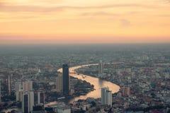 Vogelperspektive-Bangkok-Skyline von Mahanakorn-Geb?ude in Bangkok, Thailand stockfoto