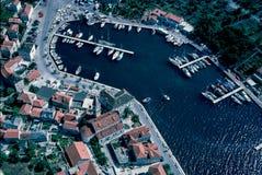 Vogelperspektive bei Milna, Brac-Insel Lizenzfreie Stockbilder