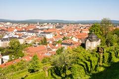 Vogelperspektive über der Stadt von Bamberg Lizenzfreies Stockfoto