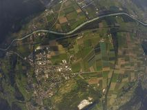 Vogelperspektive - Bex, die Schweiz Stockbilder
