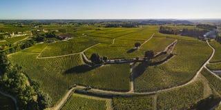 Vogelperspektive, Bordeauxweinberge, Saint Emilion, Gironde-Abteilung, Frankreich lizenzfreies stockbild