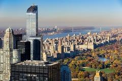 Vogelperspektive, Central Park im Fall, Upper West Side, NYC Lizenzfreies Stockfoto