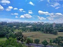 Vogelperspektive - chinesische Gärten lizenzfreie stockbilder