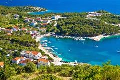 Vogelperspektive der adriatischen Küste Stockbilder