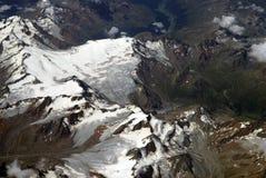 Vogelperspektive der Alpen Stockbilder