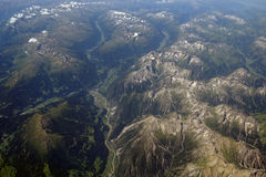 Vogelperspektive der Alpen Lizenzfreie Stockbilder