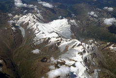 Vogelperspektive der Alpen Stockbild