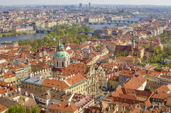 Vogelperspektive der alten Stadt in Prag, Tschechische Republik Lizenzfreies Stockbild
