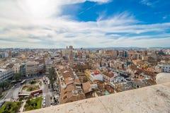 Vogelperspektive der alten Stadt in Valencia Lizenzfreie Stockbilder