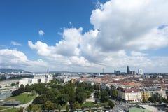 Vogelperspektive der alten Stadt Wien, Österreich Lizenzfreie Stockfotos
