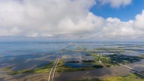 Vogelperspektive der beweglichen Bucht, Alabama stockbilder