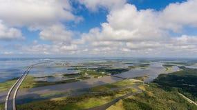 Vogelperspektive der beweglichen Bucht, Alabama stockfoto