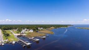 Vogelperspektive der beweglichen Bucht, Alabama lizenzfreies stockbild