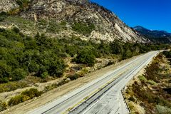 Vogelperspektive der Eichen-Schlucht, Kalifornien lizenzfreie stockbilder