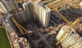 Vogelperspektive der enormen Baustelle Stockbild