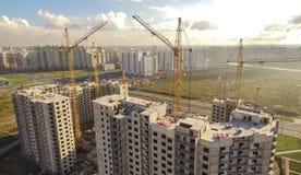 Vogelperspektive der enormen Baustelle Lizenzfreies Stockfoto