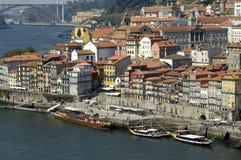 Vogelperspektive der historischen Mitte der Stadt Porto  lizenzfreies stockfoto