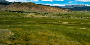 Vogelperspektive der Hunewill-Ranch nahe Bridgeport, Kalifornien lizenzfreies stockbild