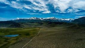 Vogelperspektive der Hunewill-Ranch nahe Bridgeport, Kalifornien lizenzfreies stockfoto