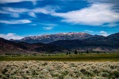 Vogelperspektive der Hunewill-Ranch nahe Bridgeport, Kalifornien lizenzfreie stockfotografie