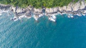 Vogelperspektive der Küstenlinie von Vietnam Stockbilder