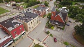 Vogelperspektive der Kleinstadt Mars Pennsylvania stock video footage