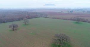 Vogelperspektive der Landschaft von Castel Sant-` Elia, in der Provinz von Viterbo, in Italien stock video footage
