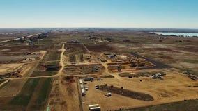 Luftbild der Landschaft stock video