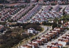 Vogelperspektive der mexikanischen Nachbarschaft Stockfotos