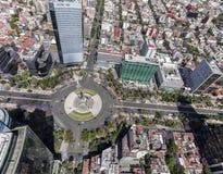 Vogelperspektive der Mexiko- Cityunabhängigkeitsengelsspalte Lizenzfreie Stockfotografie
