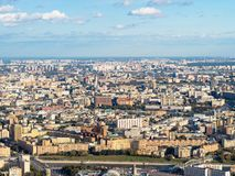 Vogelperspektive der Mitte und südwestlich Moskau-Stadt stockbilder
