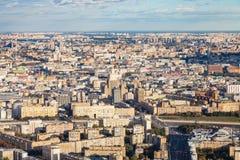Vogelperspektive der Mitte und südwestlich Moskau-Stadt stockfotografie