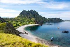 Vogelperspektive der Padar-Insel-Bucht stockfoto
