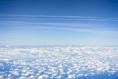 Vogelperspektive der Pyrenäen stockbild