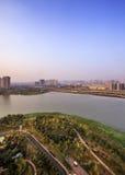 Vogelperspektive der Stadt Lizenzfreie Stockfotos