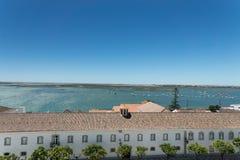 Vogelperspektive der Stadt Faro, Portugal Lizenzfreie Stockfotografie
