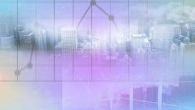 Vogelperspektive der Stadt mit beweglichen Blasen vektor abbildung