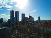 Vogelperspektive der Stadt Tallinn Estland Lizenzfreie Stockfotos