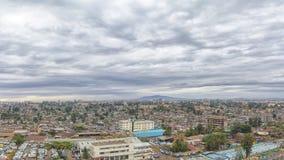 Vogelperspektive der Stadt von Addis Ababa Lizenzfreie Stockfotos