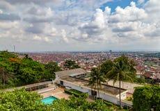 Vogelperspektive der Stadt von Ibadan Nigeria stockfotos