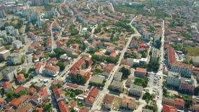 Vogelperspektive der Stadt von Pula im Sommer, Kroatien Lizenzfreies Stockfoto