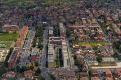 Vogelperspektive der Stadt von Rom Stockfotos