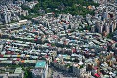 Vogelperspektive der Stadt von Taipeh Stockbild