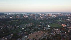 Vogelperspektive der Stadt von Vitebsk stock footage