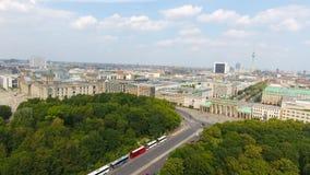 Vogelperspektive der Straße Berlin-Skyline vom 17. Juni, Deutschland Stockfoto