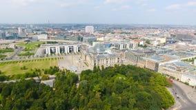 Vogelperspektive der Straße Berlin-Skyline vom 17. Juni, Deutschland Lizenzfreie Stockfotos